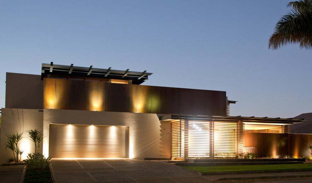 Garage, Lights Evening, House Aboobaker, Limpopo, South Africa