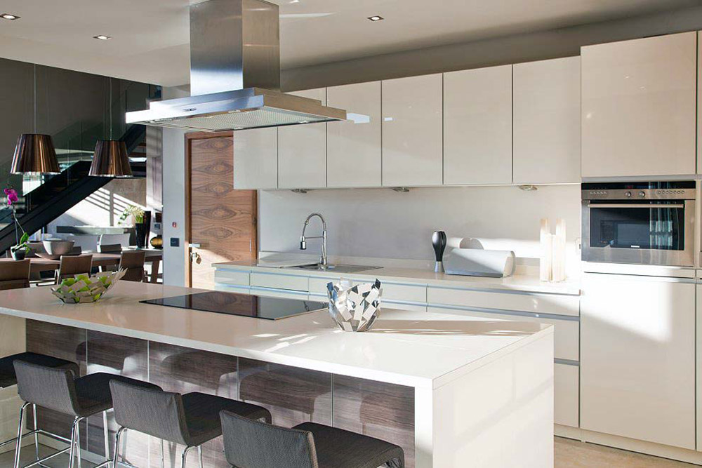Kitchen, Island Breakfast Table, House Aboobaker, Limpopo, South Africa