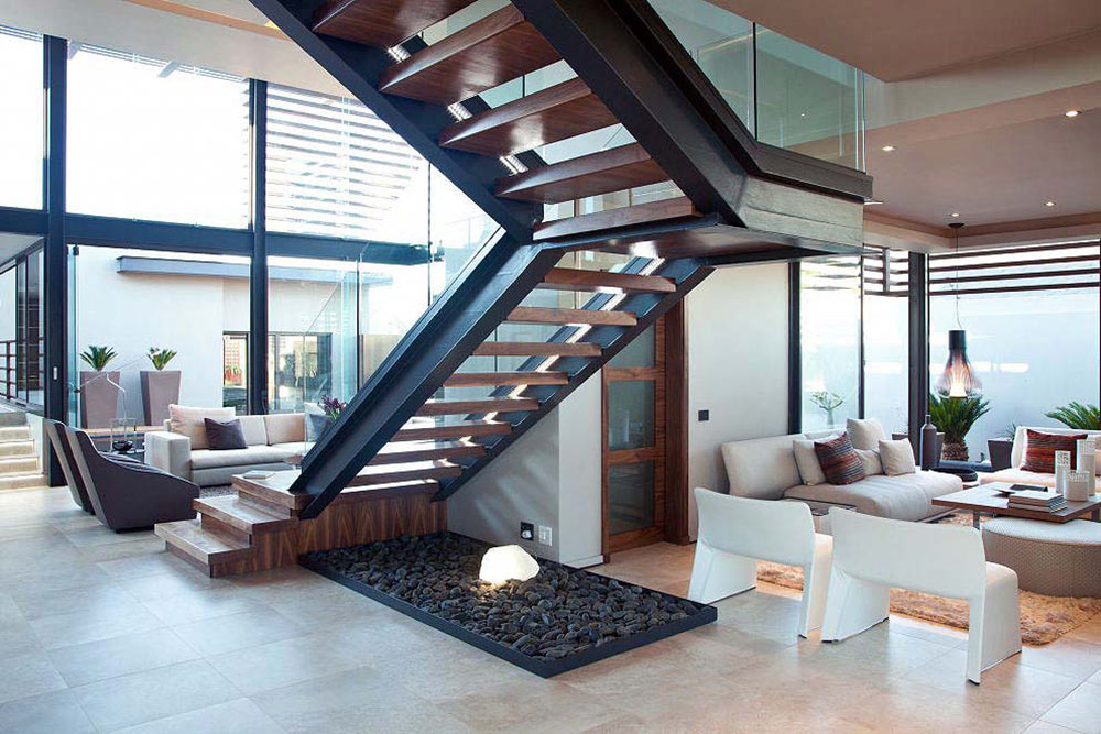 Stairs, Open Plan Living Space, House Aboobaker, Limpopo, South Africa