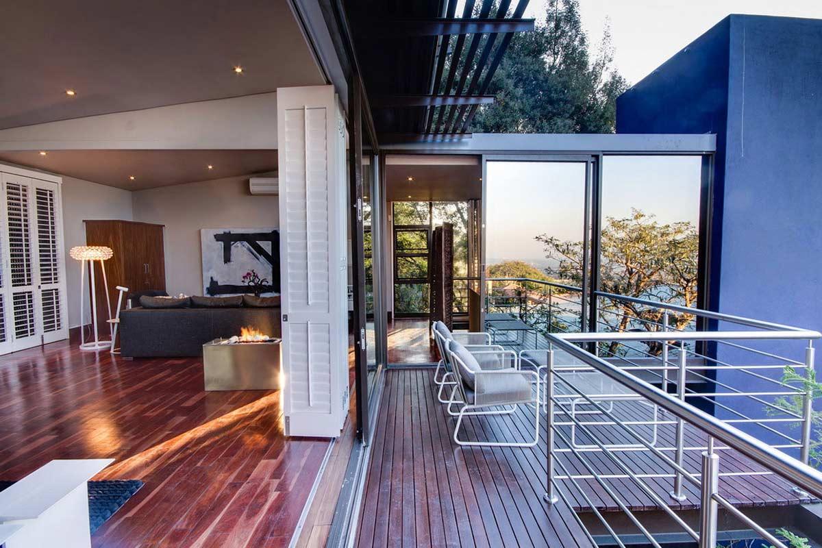 Bedroom Contemporary Fireplace Balcony Modern Upgrade