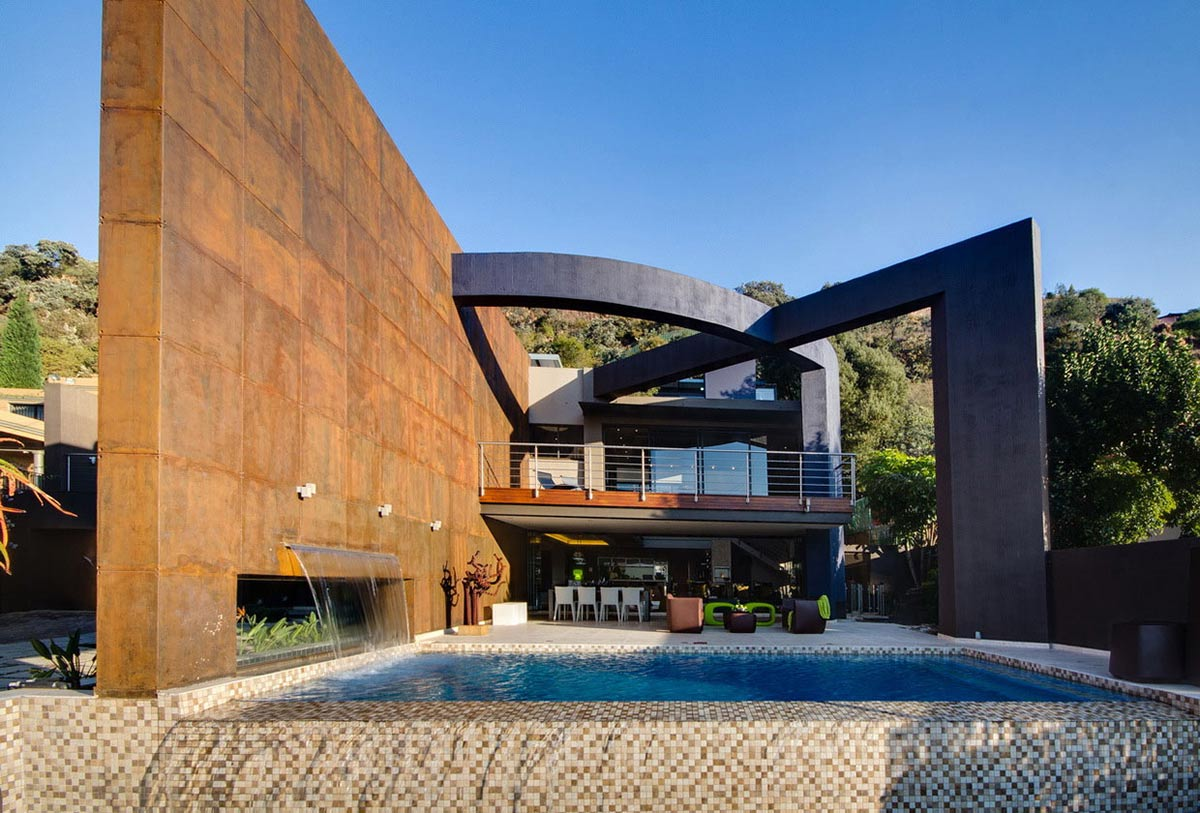 Waterfall, Pool, Modern Upgrade in South Africa