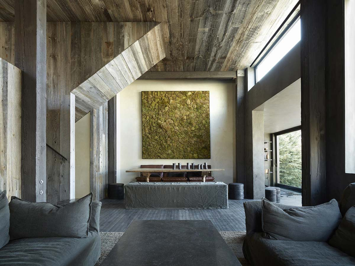 Dining Space, Wall Art, La Muna, Aspen, Colorado by Oppenheim Architecture + Design