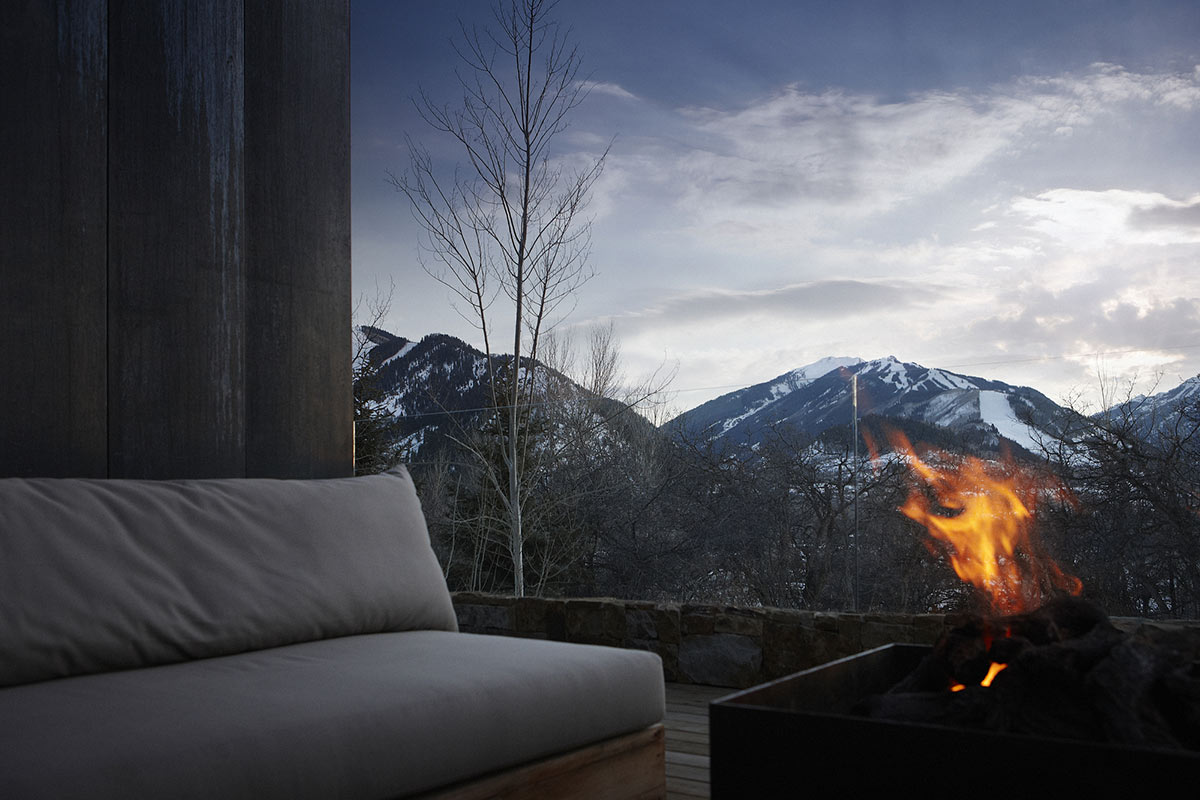 Firepit, Mountain Views, La Muna, Aspen, Colorado by Oppenheim Architecture + Design