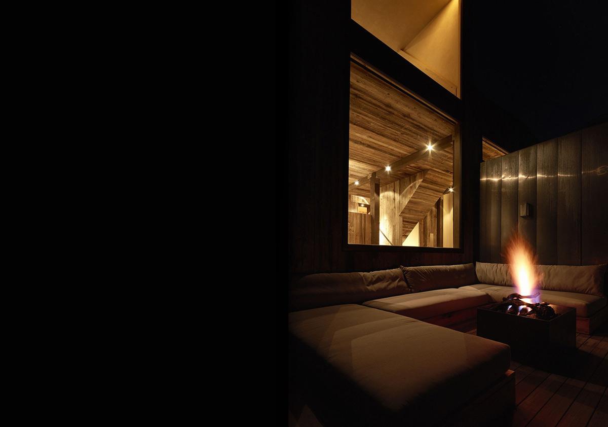 Firepit, Outdoor Sofas, La Muna, Aspen, Colorado by Oppenheim Architecture + Design