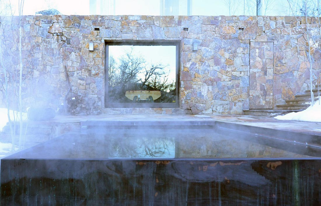 Hot Tub, La Muna, Aspen, Colorado by Oppenheim Architecture + Design
