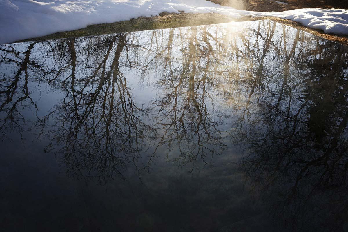 Hot Tub Reflections, La Muna, Aspen, Colorado by Oppenheim Architecture + Design