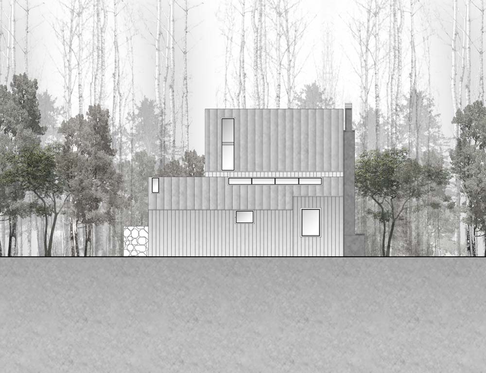 North Elevation, La Muna, Aspen, Colorado by Oppenheim Architecture + Design
