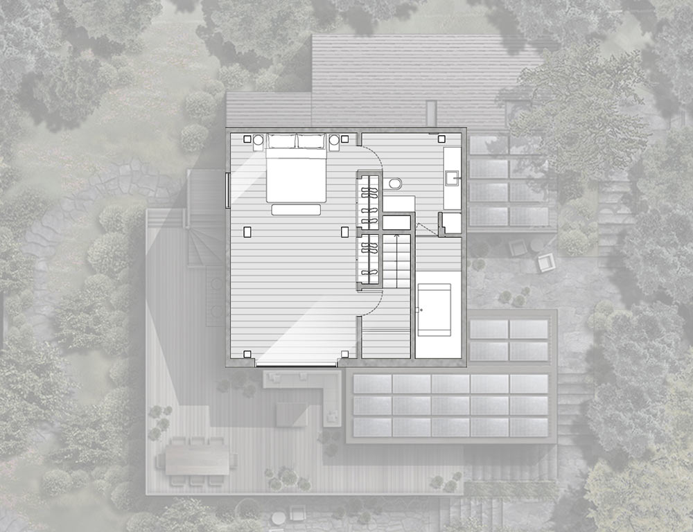 Second Floor Plan, La Muna, Aspen, Colorado by Oppenheim Architecture + Design
