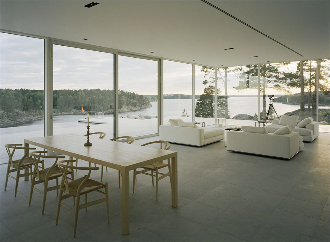 Dining, Living, Views, Stunning Lake House in Sweden