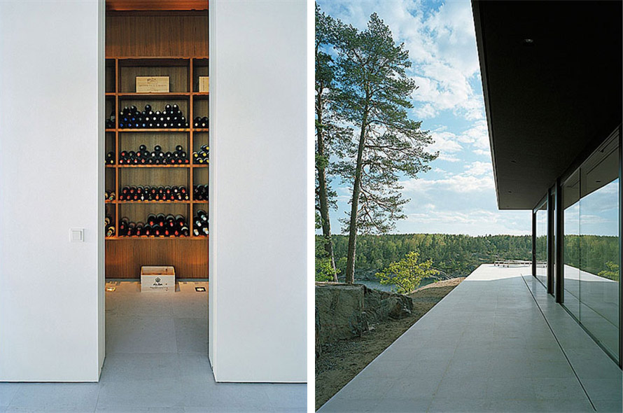 Wine Room, Terrace, Stunning Lake House in Sweden