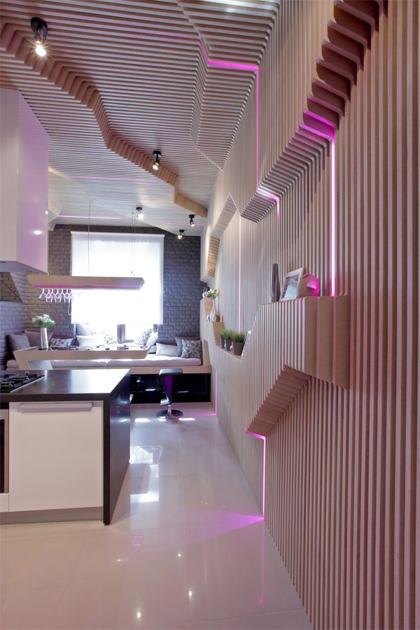 Parametrix Kitchen in Moscow by Geometrix Design