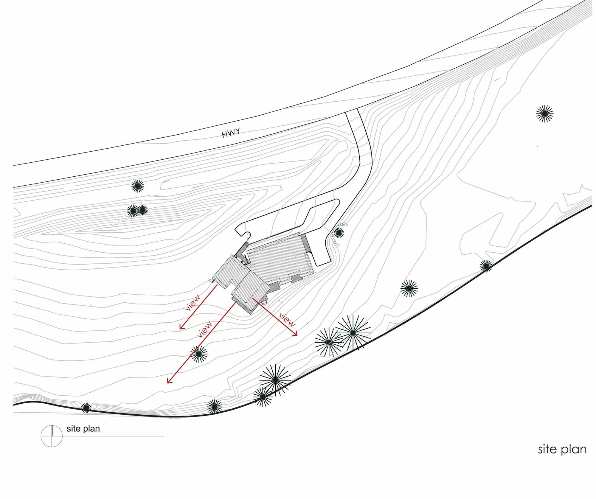 Site Plan, River Bank House, Montana by Balance Associates Architects