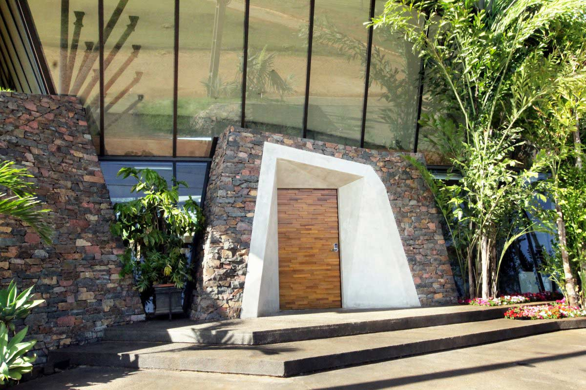 Entrance, Front Door, Two Homes in Luque, Paraguay, by Bauen