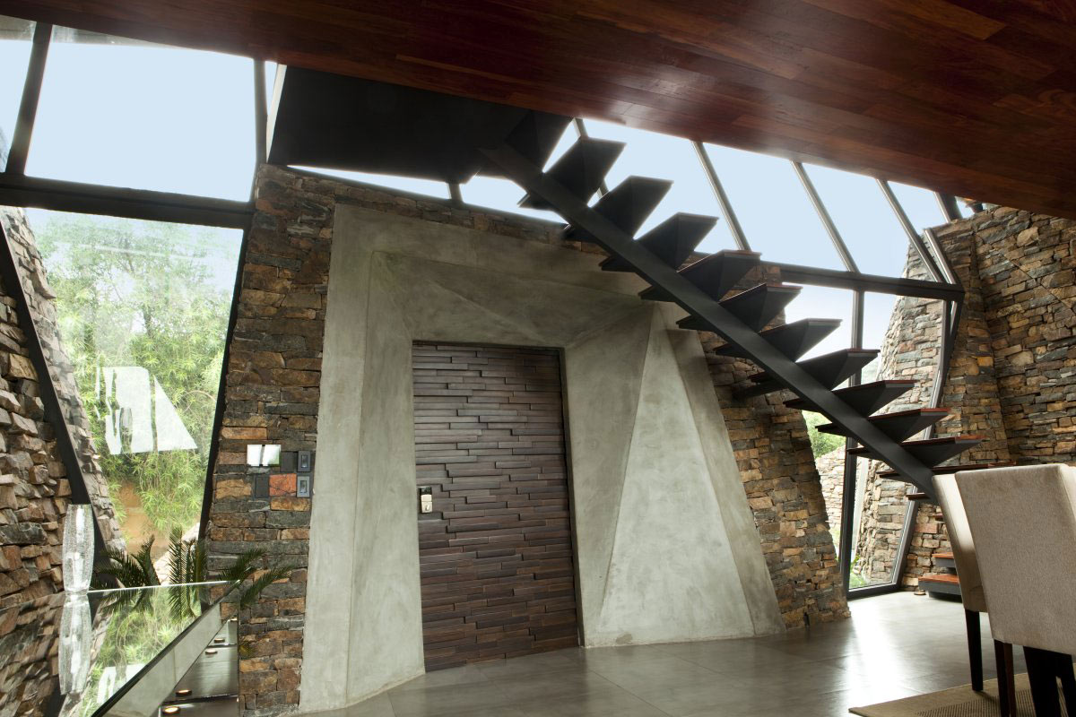 Entrance Hall, Stairs, Two Homes in Luque, Paraguay, by Bauen