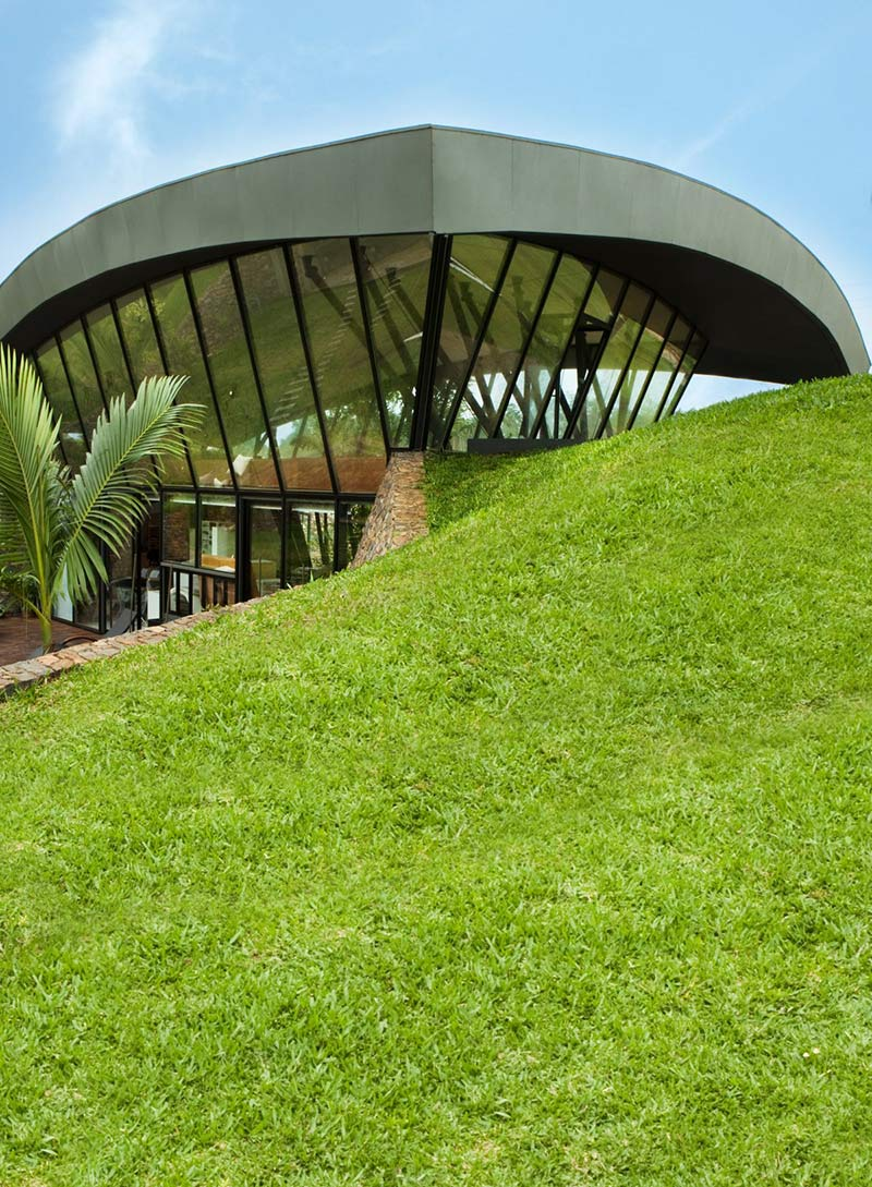 Roof Structure, Two Homes in Luque, Paraguay, by Bauen