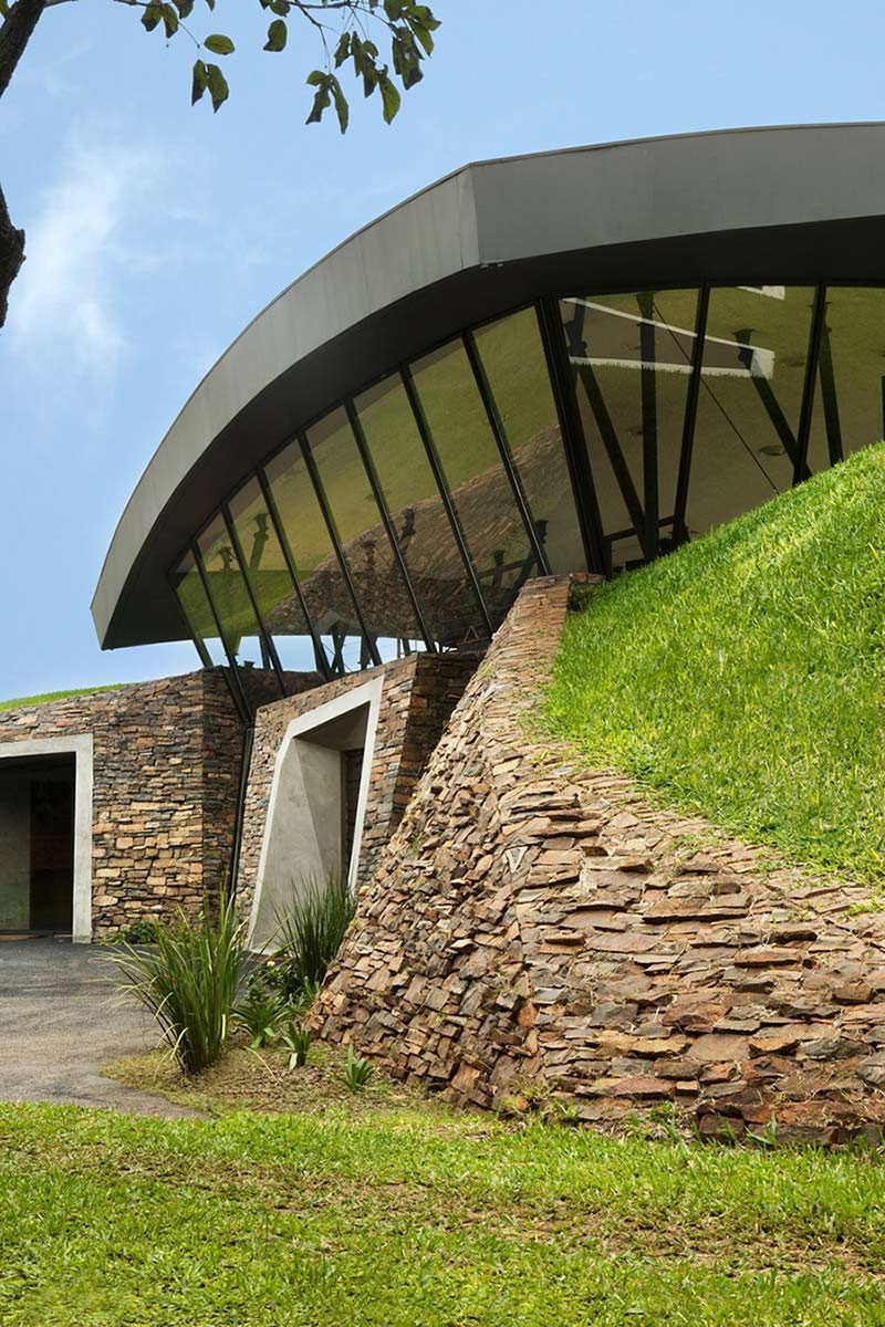 Stonework, Two Homes in Luque, Paraguay, by Bauen