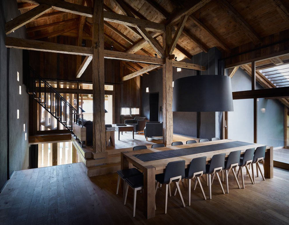 Dining Space, Villa Solaire, Morzine, France by JKA + FUGA