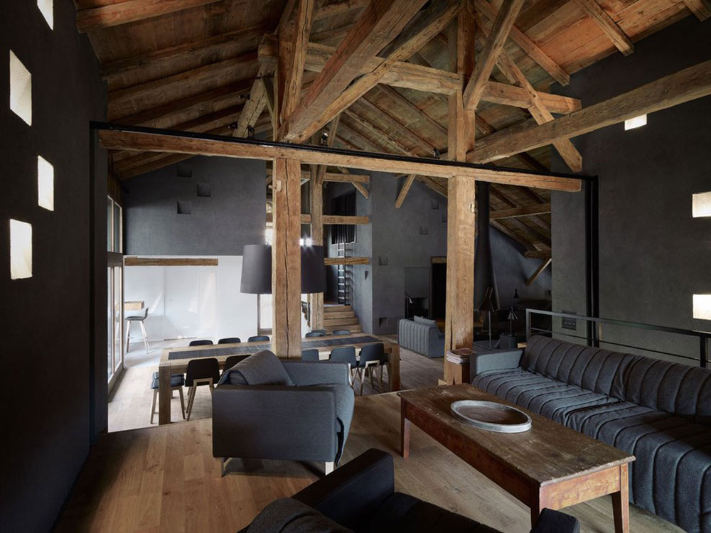 Living Space, Villa Solaire, Morzine, France by JKA + FUGA