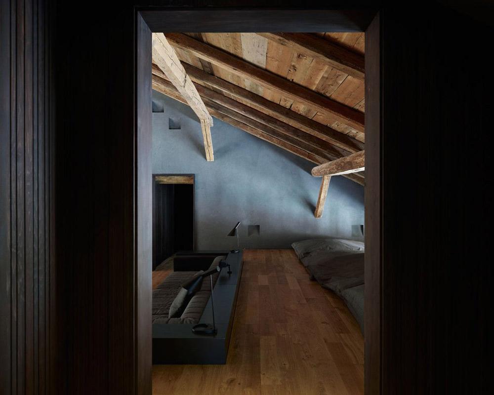 Sunken Sofa, Villa Solaire, Morzine, France by JKA + FUGA