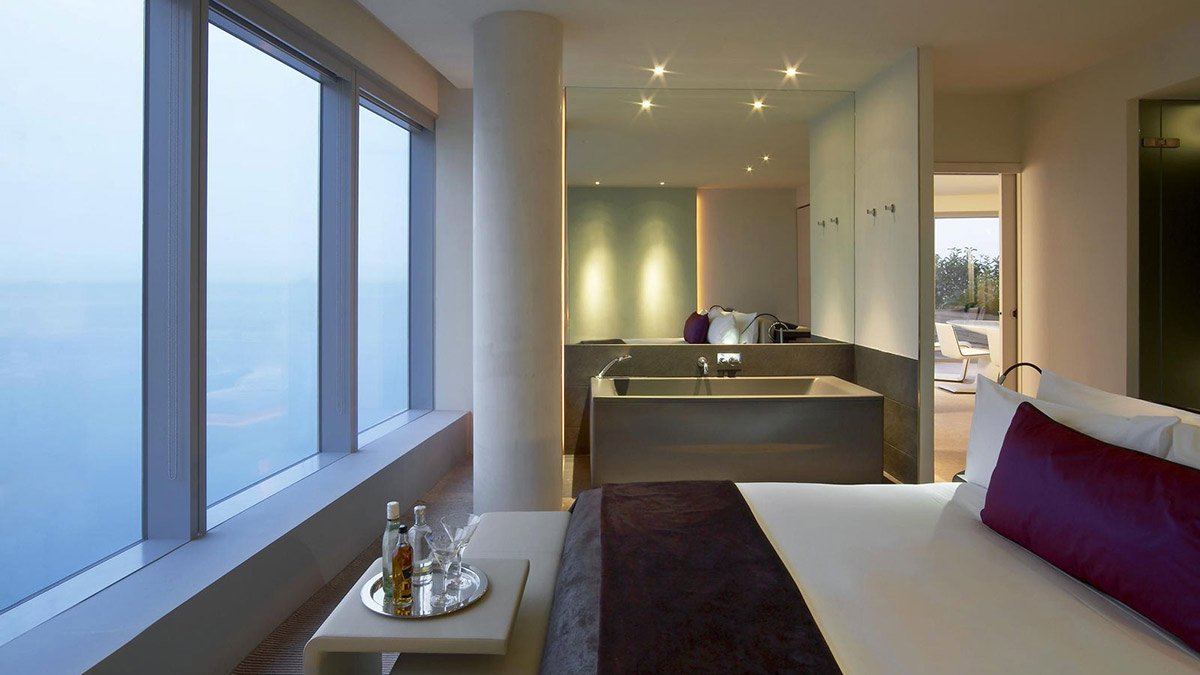Bath, Bed, Views, W Hotel, Barcelona by Ricardo Bofill