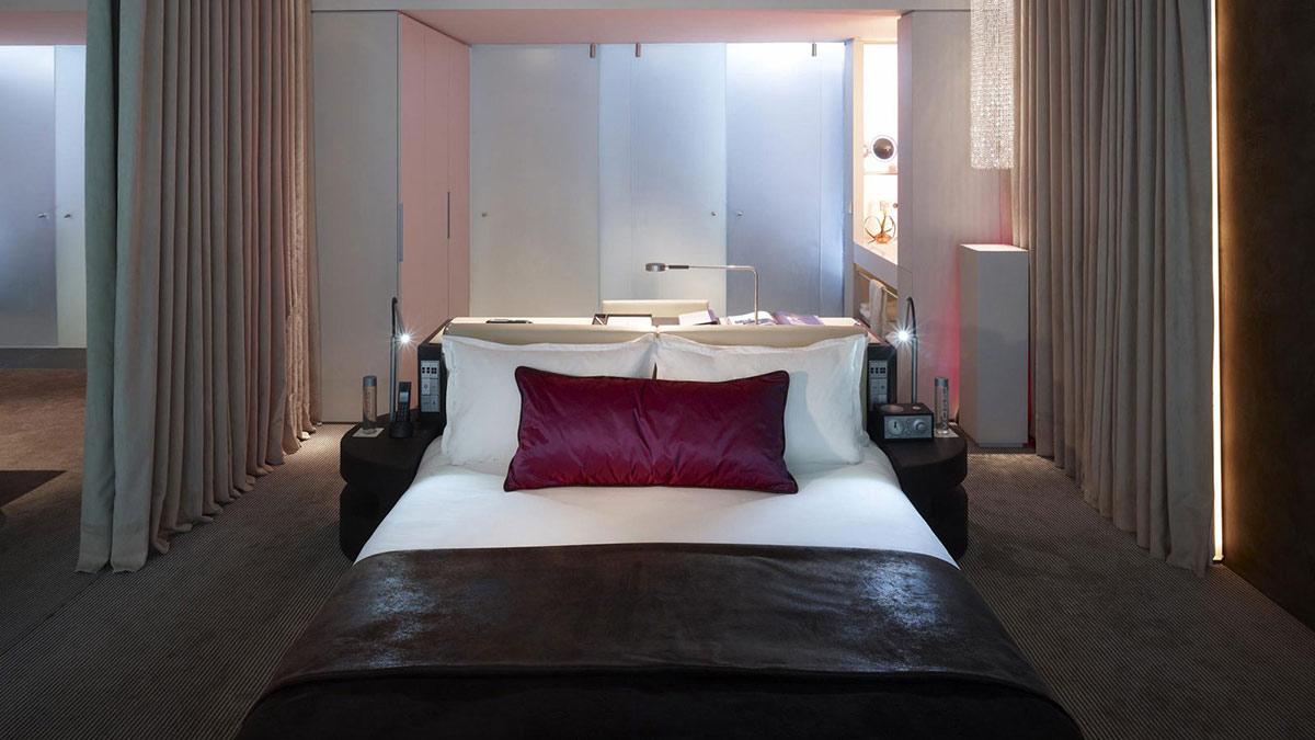 Bedroom, Office, W Hotel, Barcelona by Ricardo Bofill