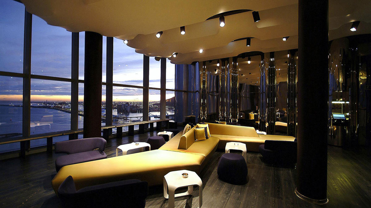 Lounge, Evening, Views, W Hotel, Barcelona by Ricardo Bofill