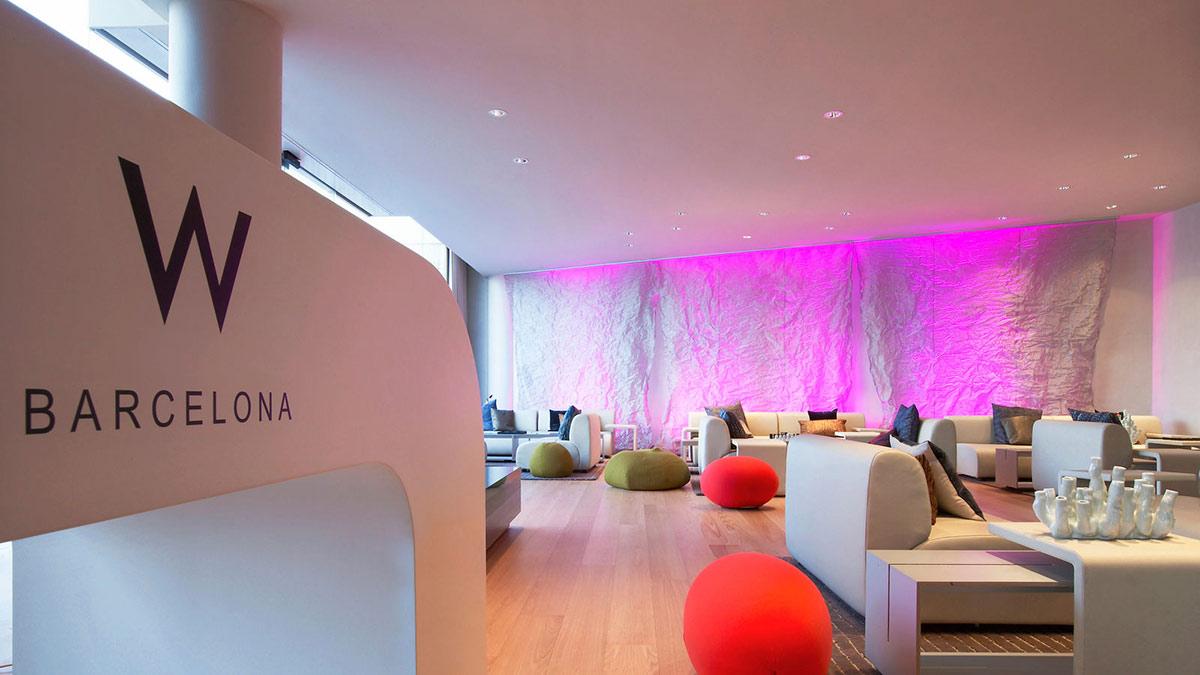 Lounge w hotel barcelona by ricardo bofill for Spa hotel w barcelona