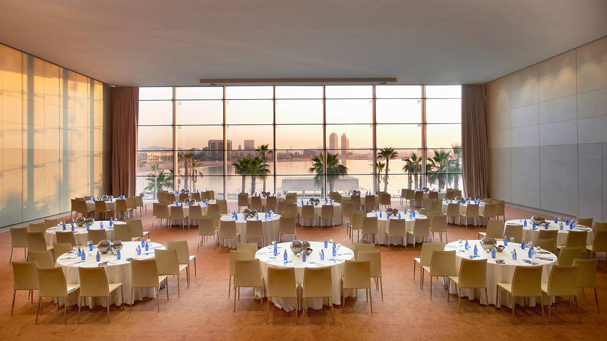 Restaurant Tables, W Hotel, Barcelona by Ricardo Bofill