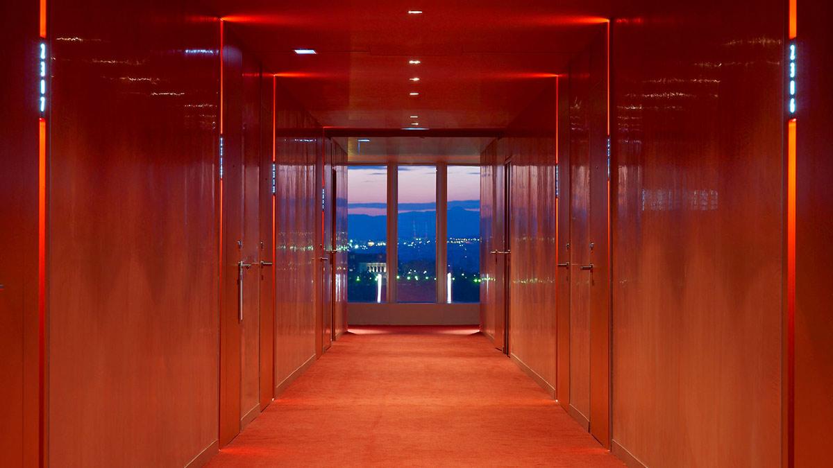 Room Doors, Hallway, W Hotel, Barcelona by Ricardo Bofill