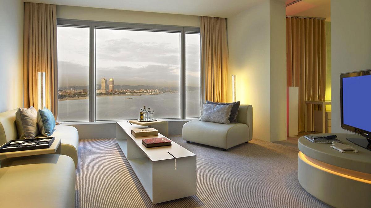 Room, Living Space, W Hotel, Barcelona by Ricardo Bofill