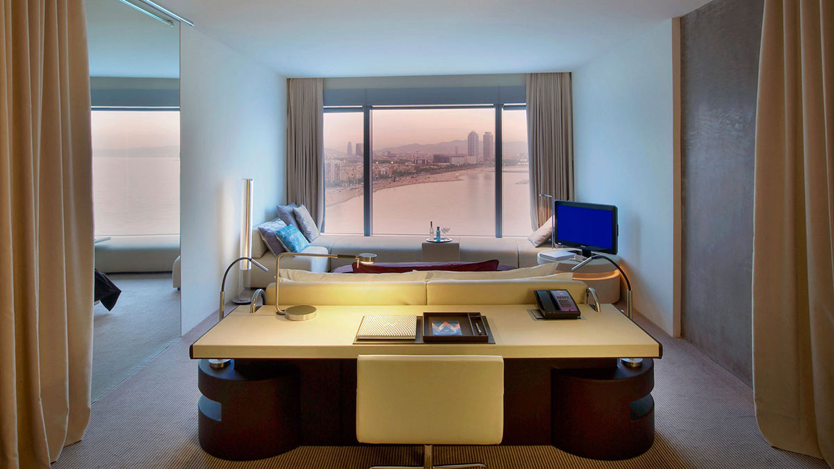Room Office Desk Living Space W Hotel Barcelona By
