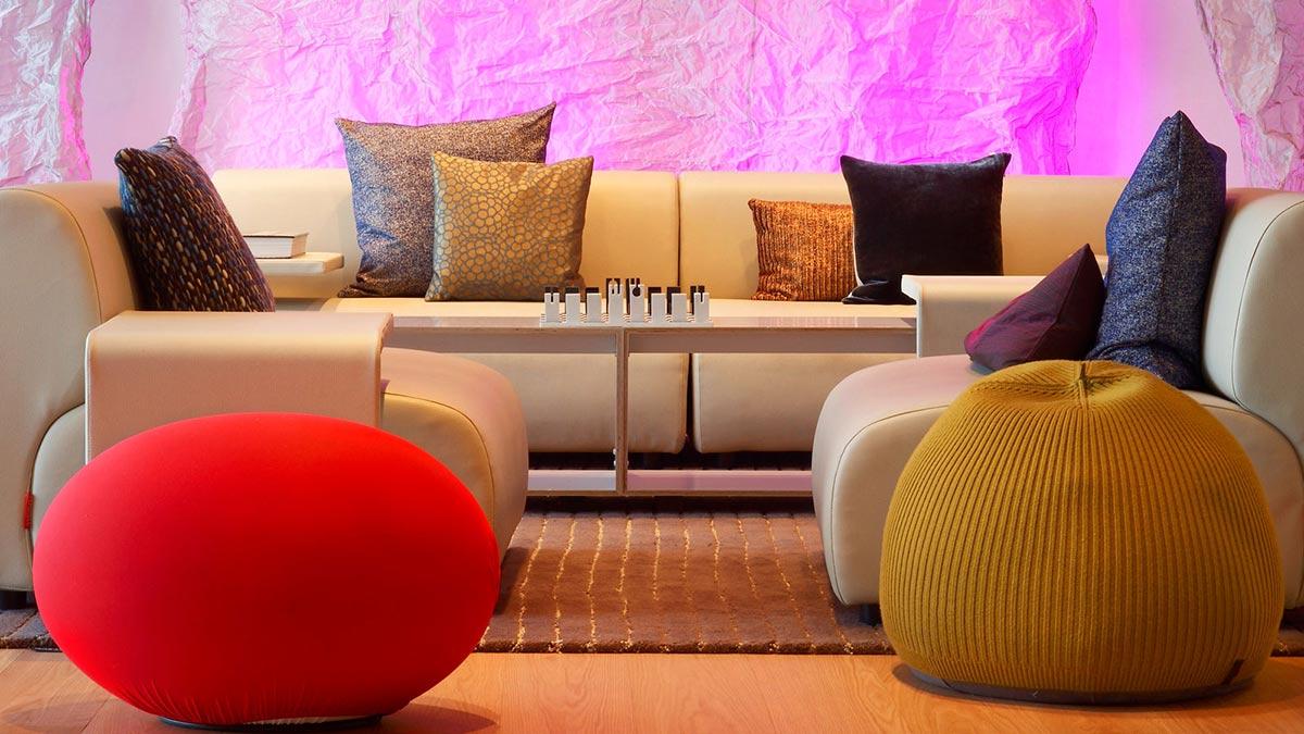 Sofa, Cushions, W Hotel, Barcelona by Ricardo Bofill