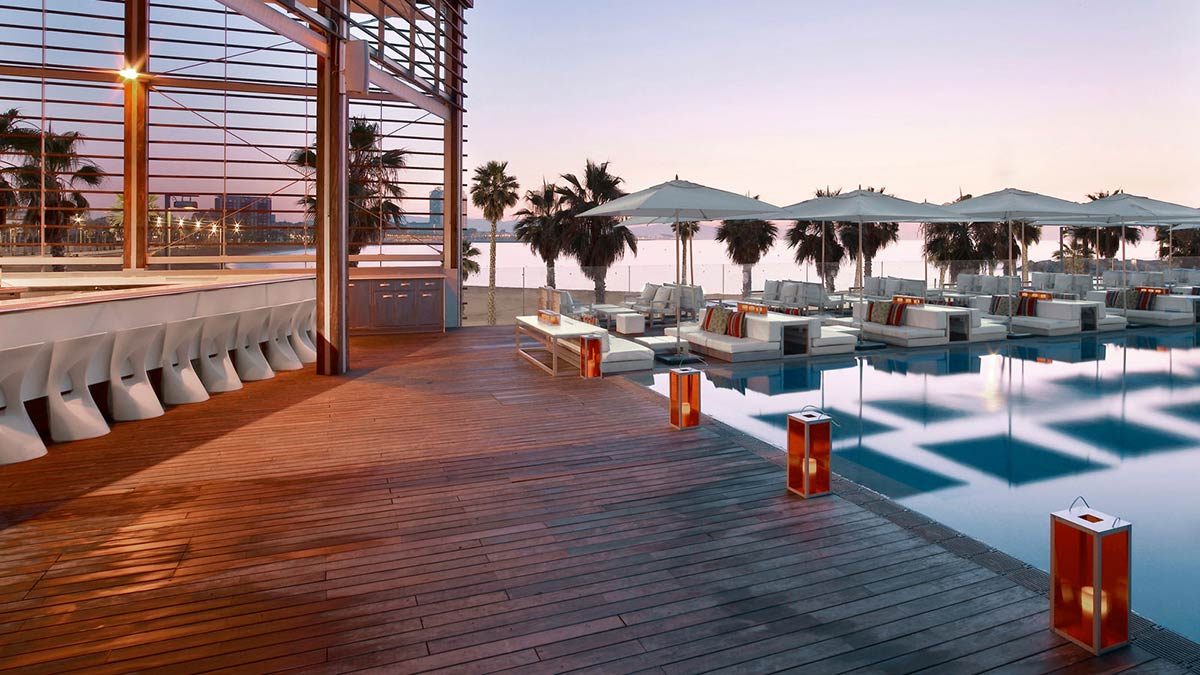Terrace, Pool, Lighting, W Hotel, Barcelona by Ricardo Bofill
