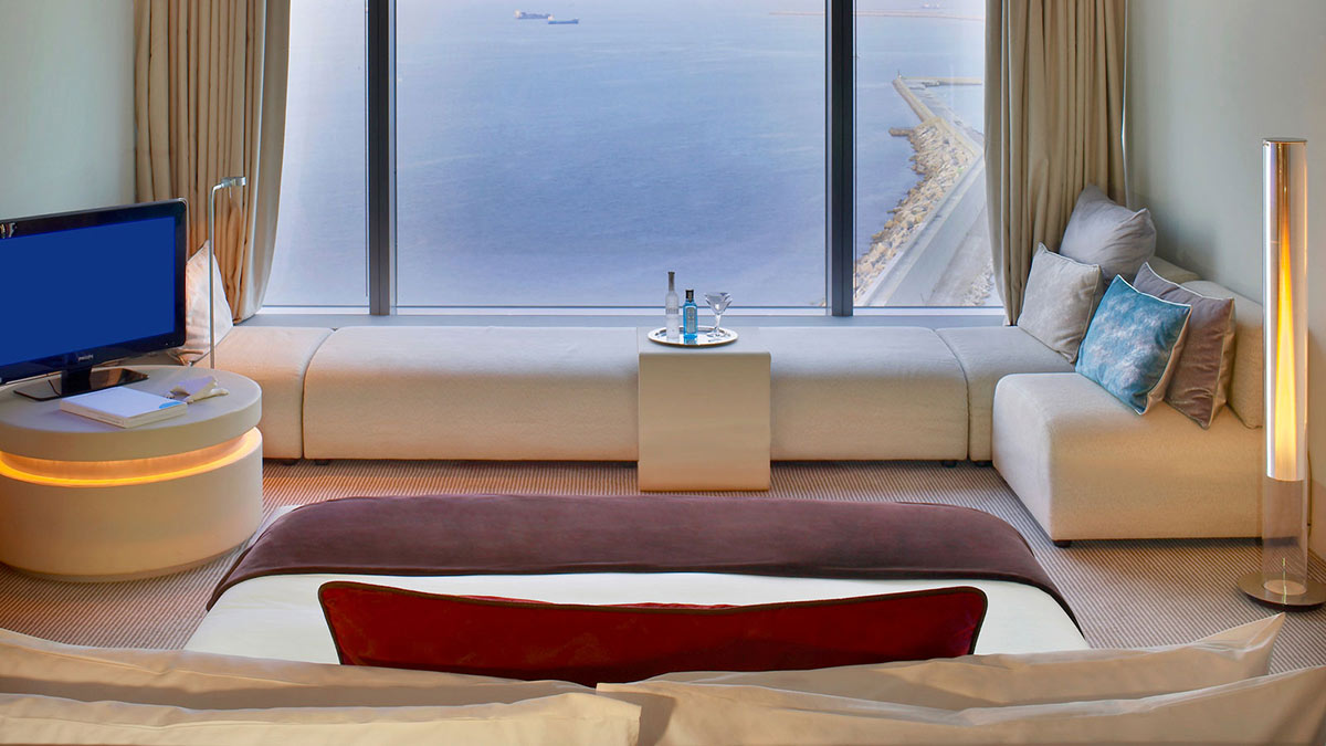 View From Bed, W Hotel, Barcelona by Ricardo Bofill