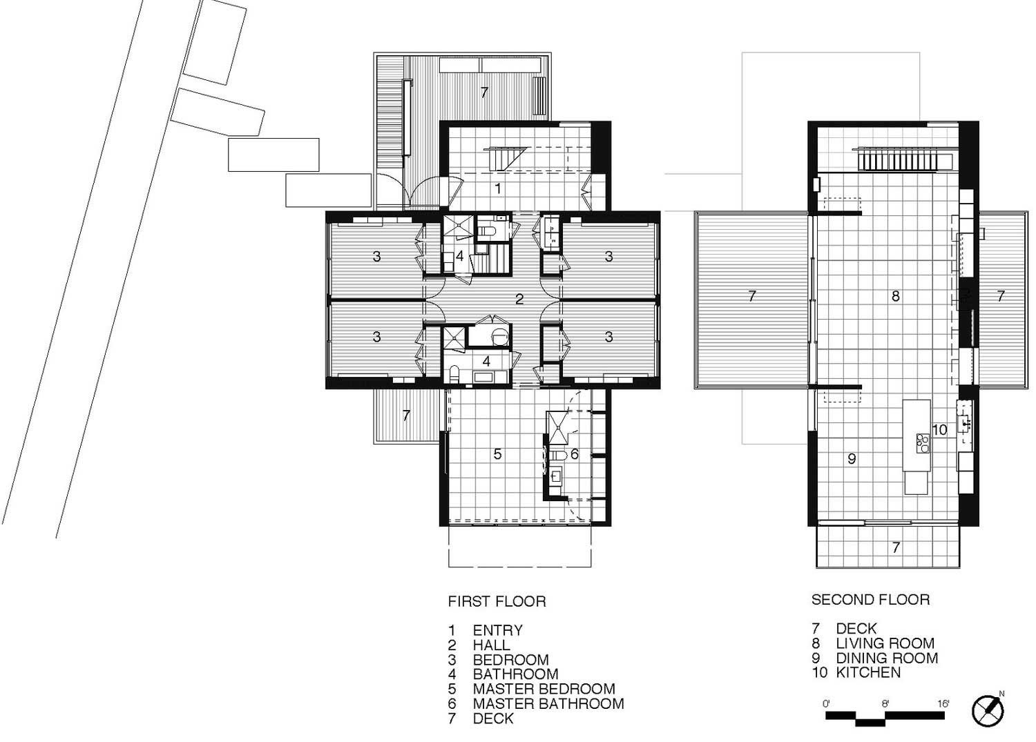 First second floor plan beach walk house fire island for 2nd floor house design