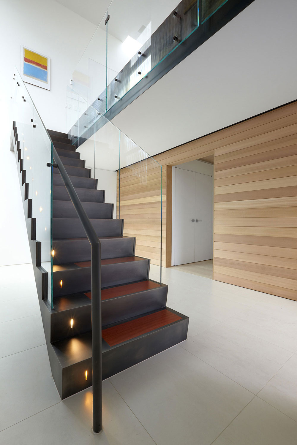 Modern Glass Stairs Beach Walk House Fire Island New York