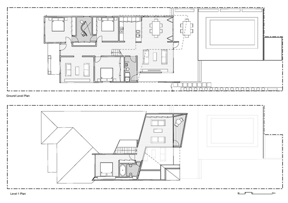 Ground & First Floor Plans, Bungalow Renovation and Extension in