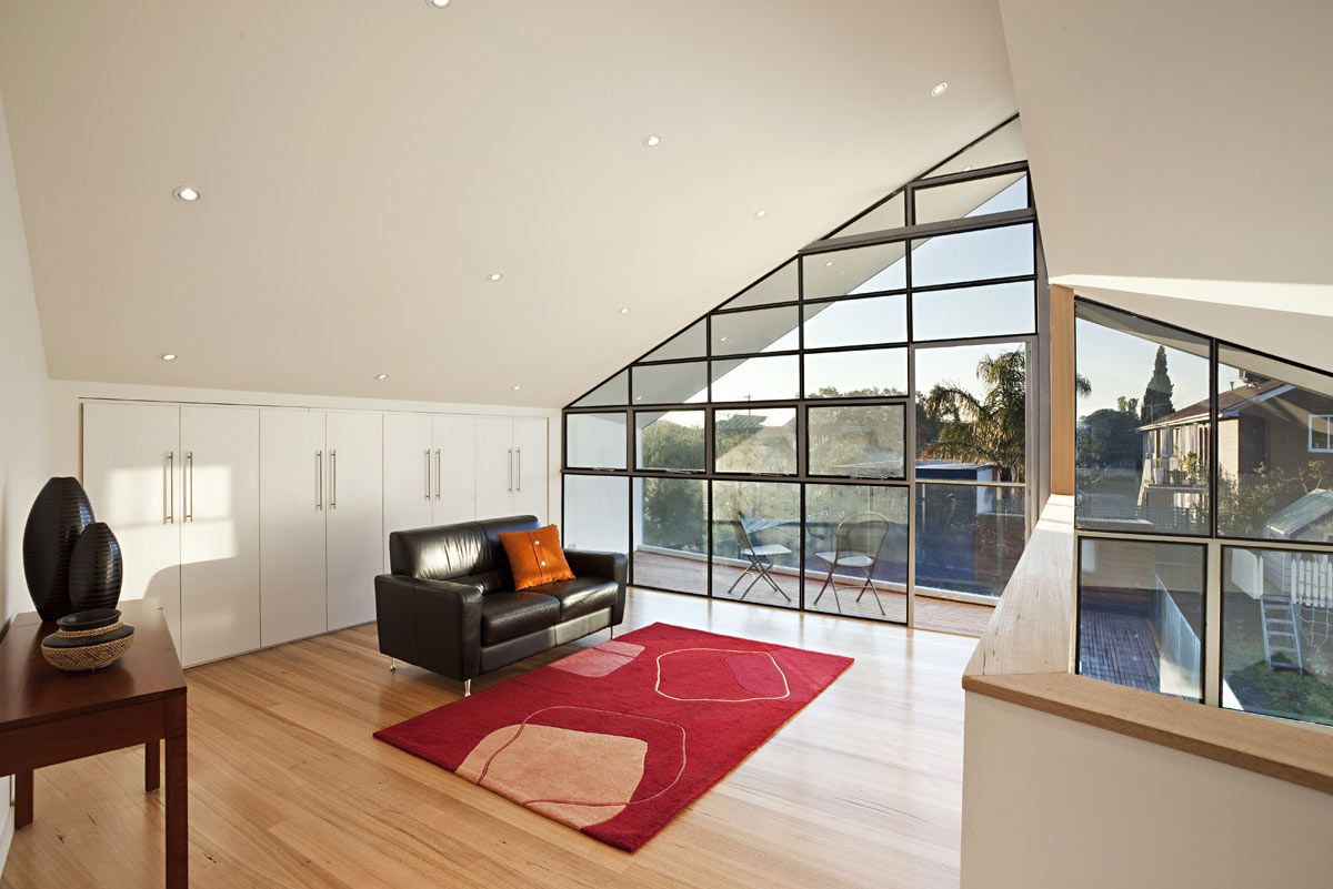 Living Space, Balcony, Bungalow Renovation and Extension in Melbourne