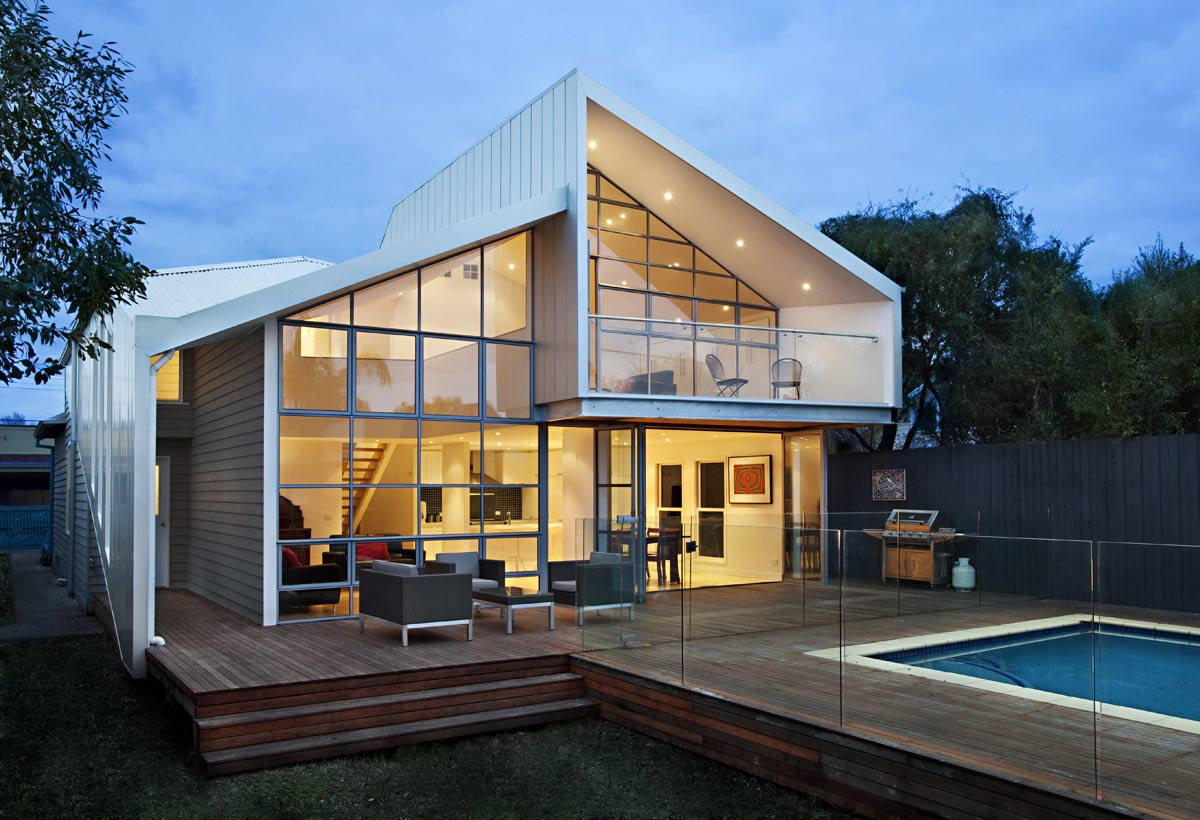 terrace pool glass fence bungalow renovation and extension in melbourne - Home Extensions Melbourne