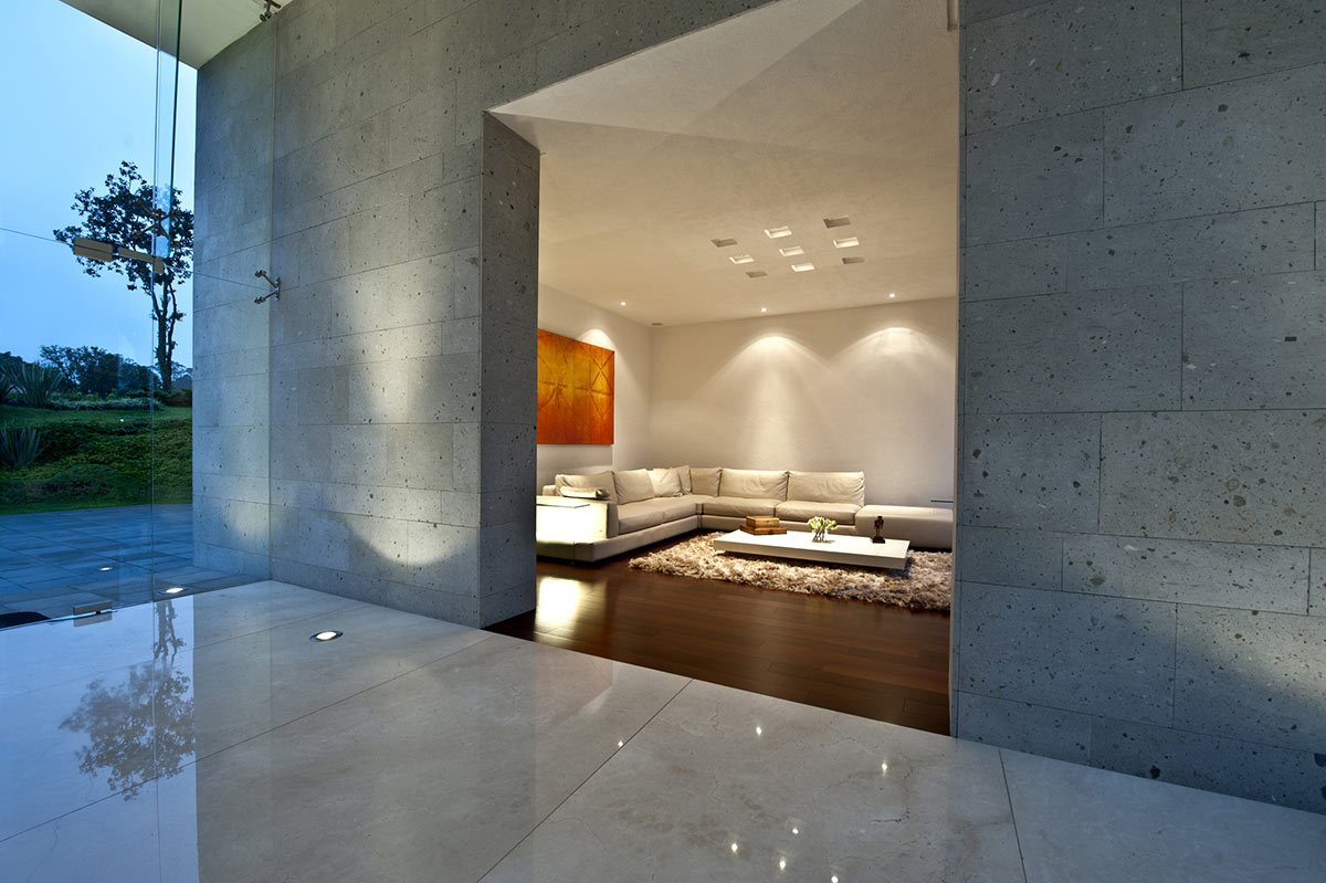 Entrance, Living Room, Sophisticated Three Story Home in Mexico
