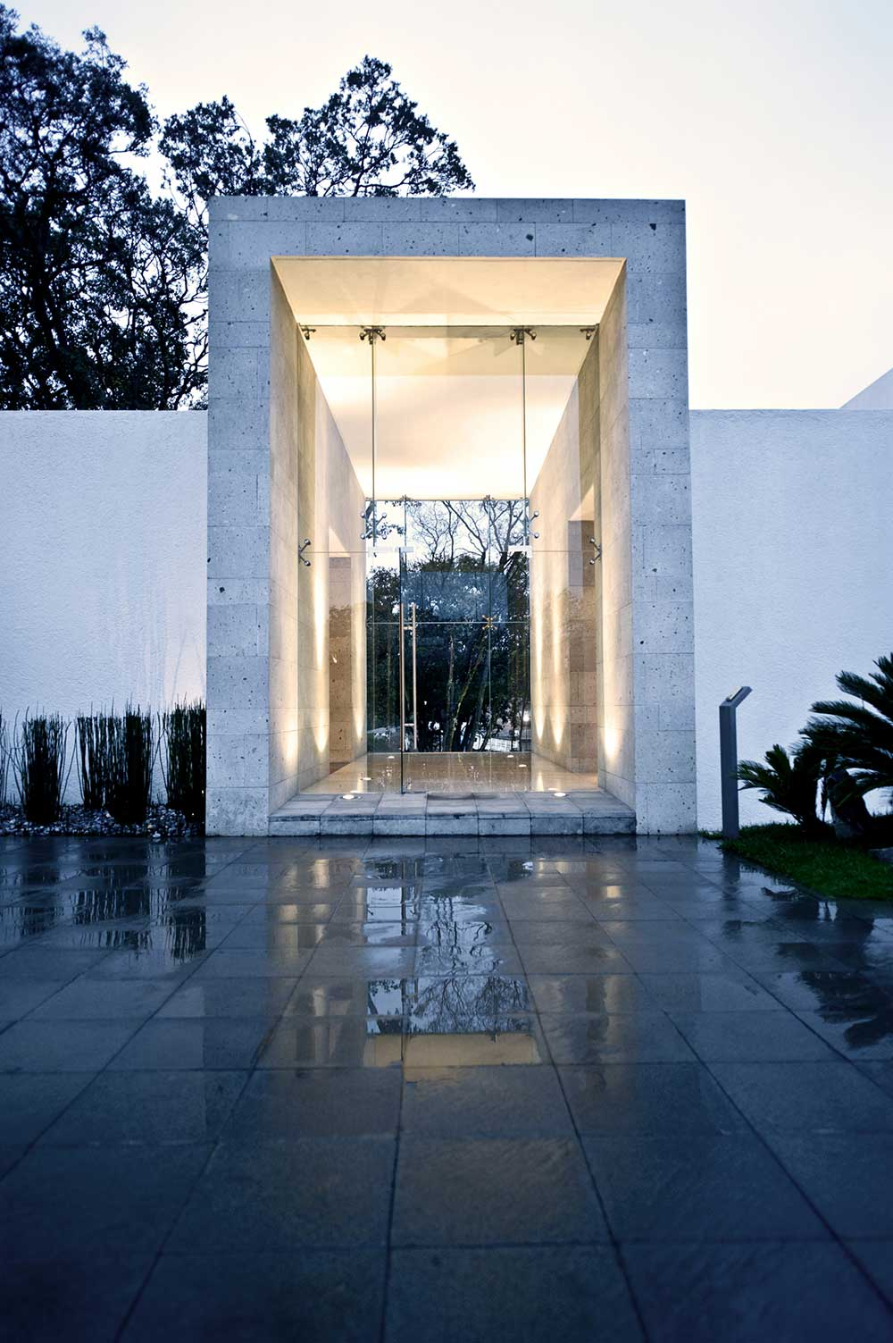 Glass Entrance, Sophisticated Three Story Home in Mexico