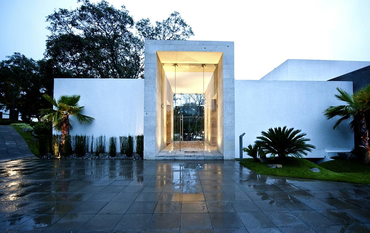 Entrance, Sophisticated Three Story Home in Mexico