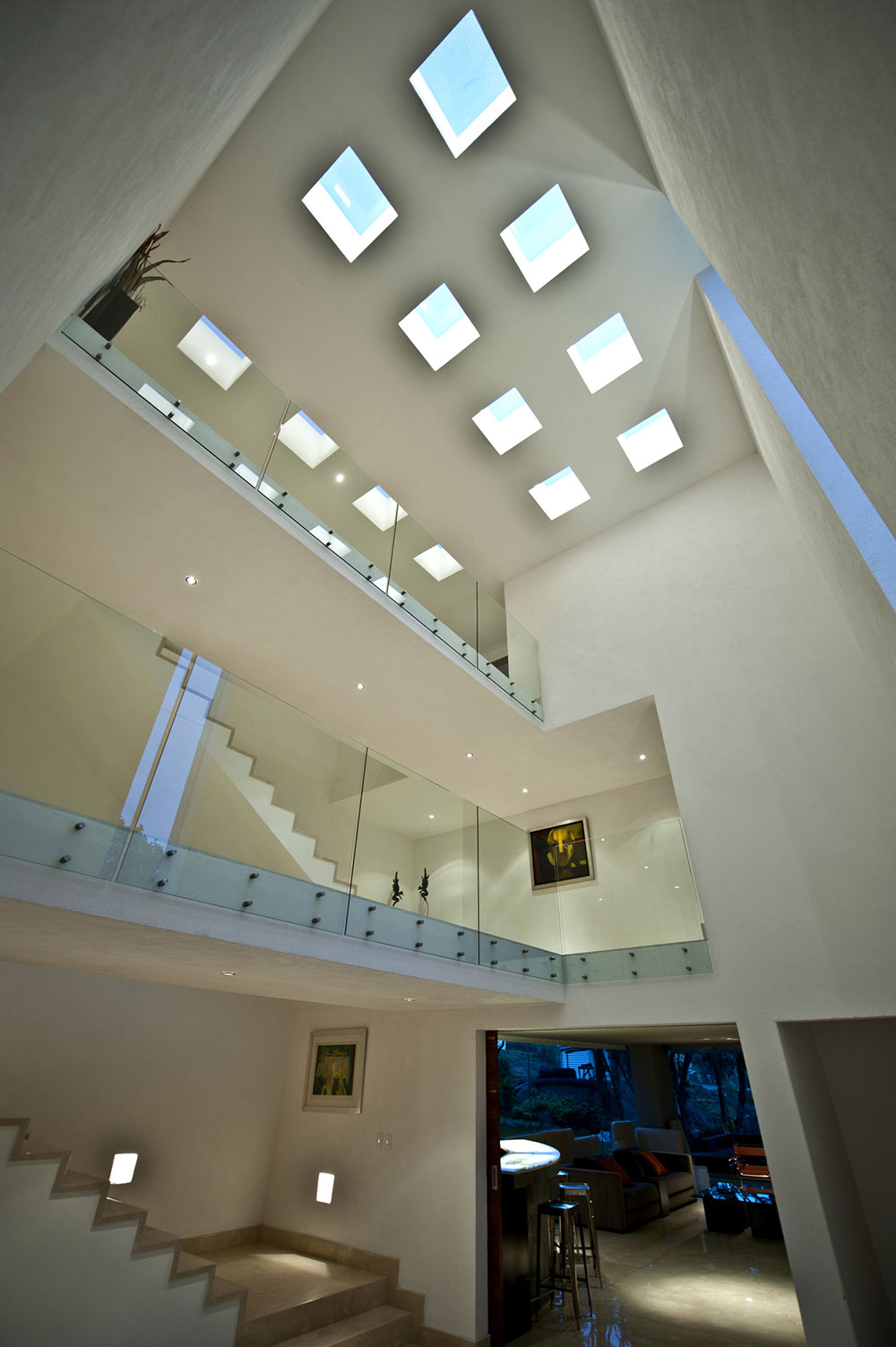 Hall, Sophisticated Three Story Home in Mexico