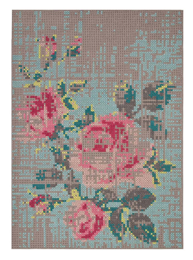 Rug Flower Design, Canevas Collection by Charlotte Lancelot