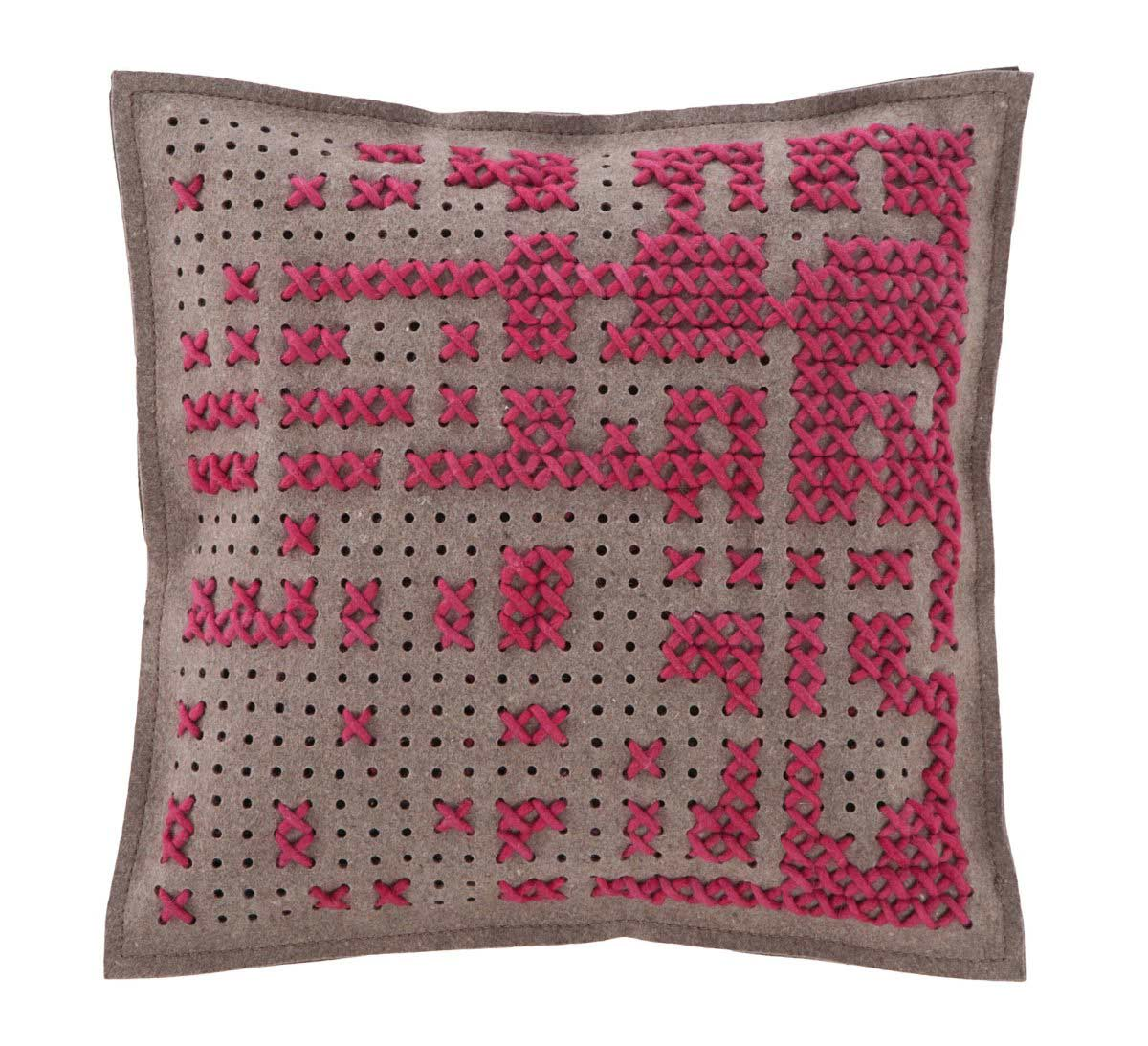 Pink Cushion, Canevas Collection by Charlotte Lancelot