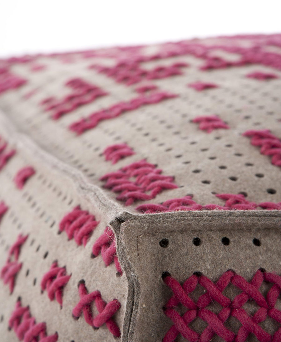 Pink Pouffe Detail, Canevas Collection by Charlotte Lancelot