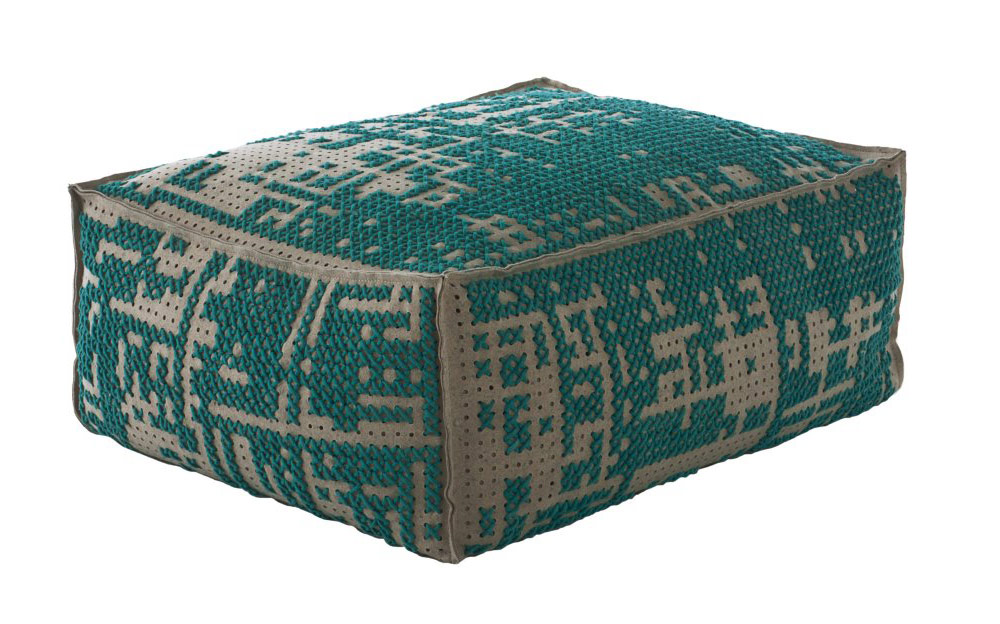 Pouffe, Canevas Collection by Charlotte Lancelot