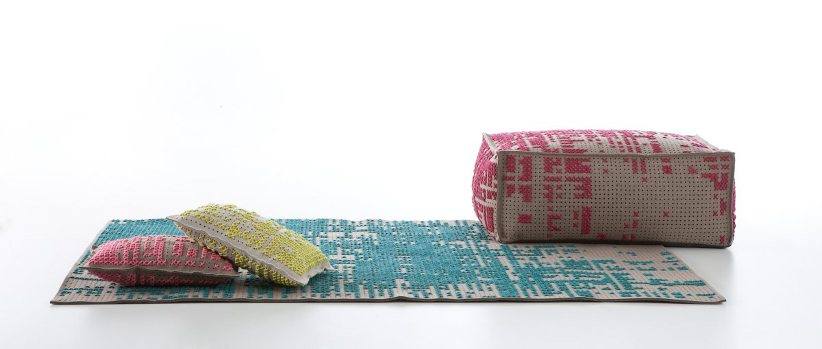 Cushion, Pouff, Rug, Canevas Collection by Charlotte Lancelot