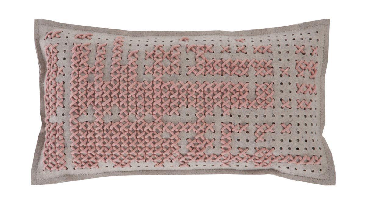 Salmon Cushion, Canevas Collection by Charlotte Lancelot