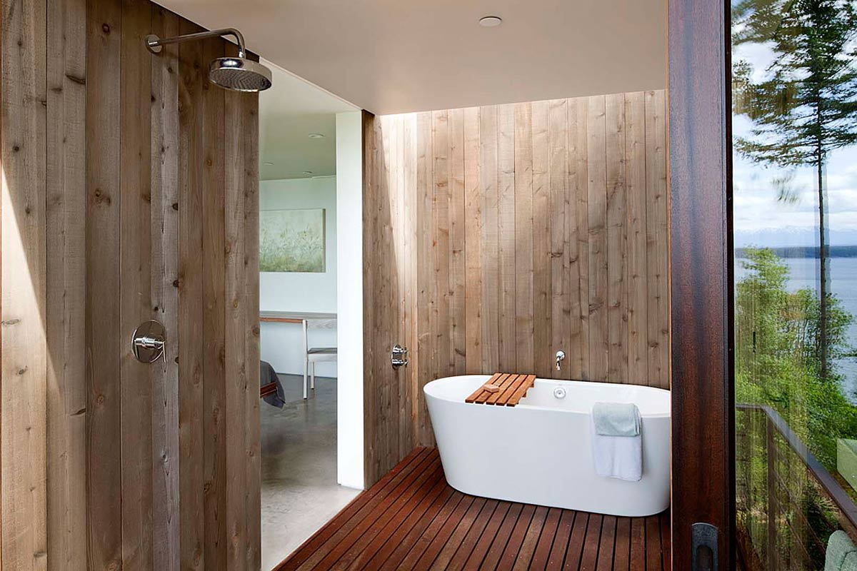 Bathroom, Wooden Flooring, Vacation Home with Amazing Inlet Views in Washington